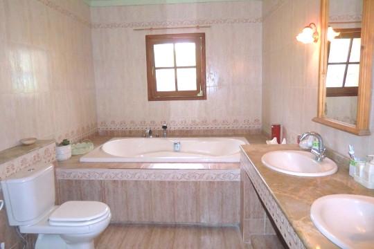Stilvolles Bad mit Dusche und Badewanne