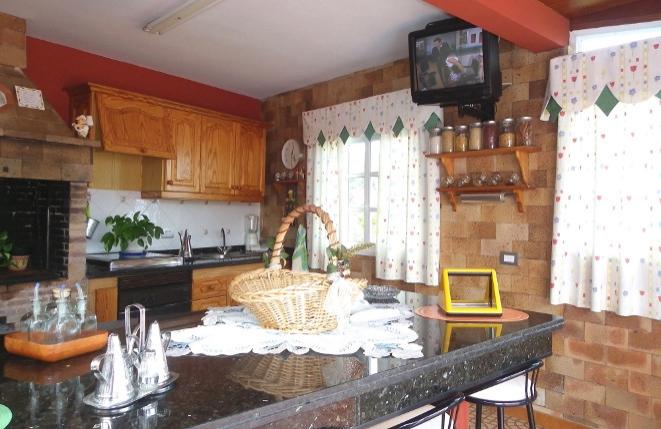 Küche mit Bar im Barbecuepavillon