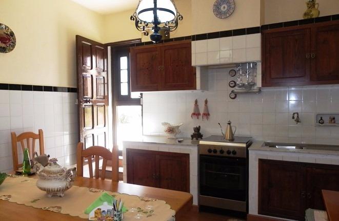 Die große Küche am Patio