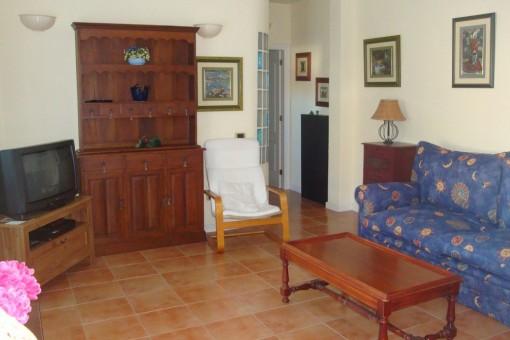 Wohnzimmer der größeren Ferienwohnung