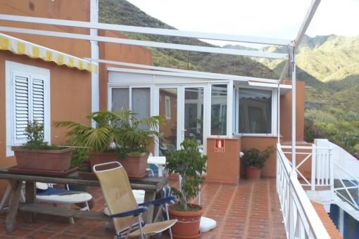 Große Terrasse am zweiten Gästeapartment