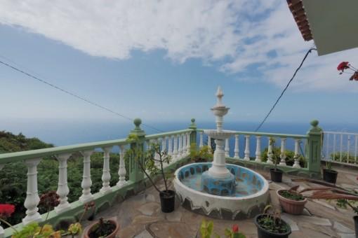 Sonnig gelegene Finca mit fantastischem Meerblick in ruhiger Lage, nähe Icod de los Vinos
