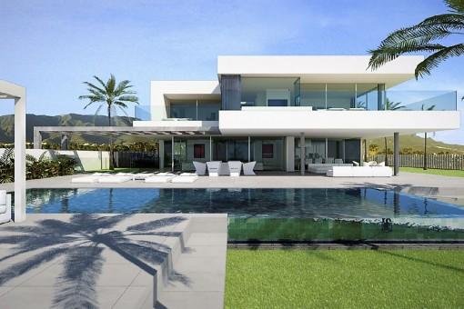 Traumhafte Meerblick-Villa direkt am Golfplatz Costa Adeje