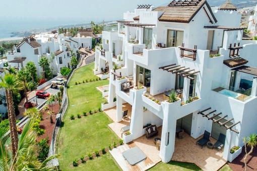 Luxuriöse Neubauwohnung mit Garten direkt am Golfplatz Abama