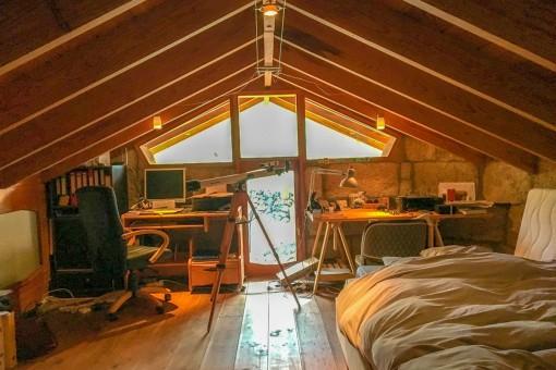Arbeitsbereich im Dachgeschoss