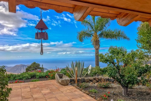 Beeindruckender Meerblick von der Terrasse