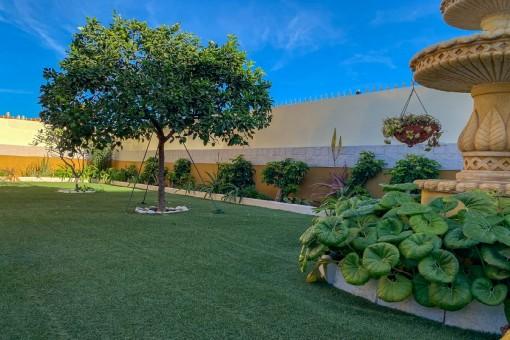 Gepflegter Gartenbereich