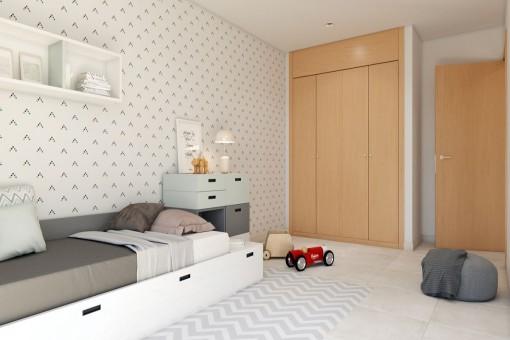 Kinderzimmer mit Einbauschränken