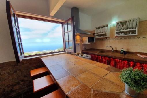 Meerblick von der Küche aus