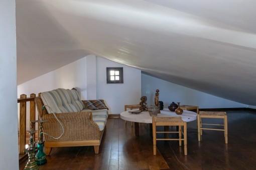 Wohnbereich im oberen Stockwerk