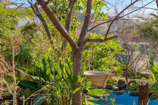 Alternative Ansicht des Gartens