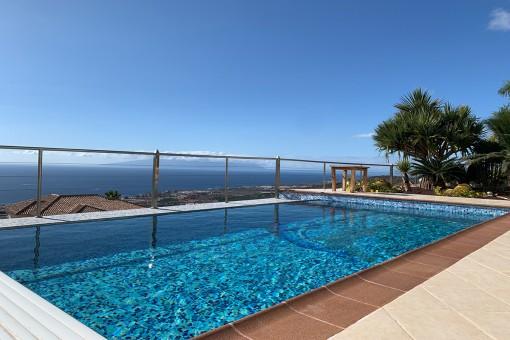 Schöne Villa mit privatem Pool und Meerblick, Teneriffa Süd