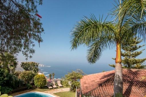 Fantastische Villa mit herrlichem Blick auf das Meer und den Teide, mit Gärten und Pool in Santa Ursula