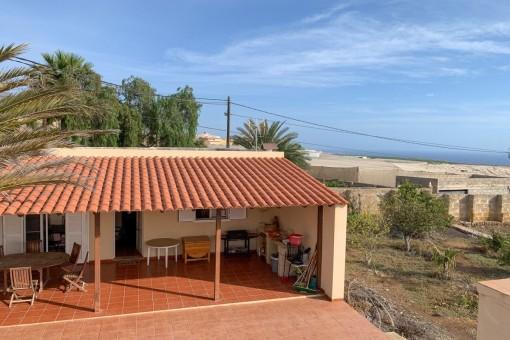 Renovierungsbedürftiges Landhaus mit Meerblick in Armeñime - Adeje