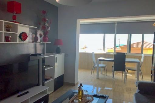 Offener Wohnbereich und Sitzecke