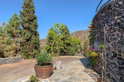 Garten der Villa