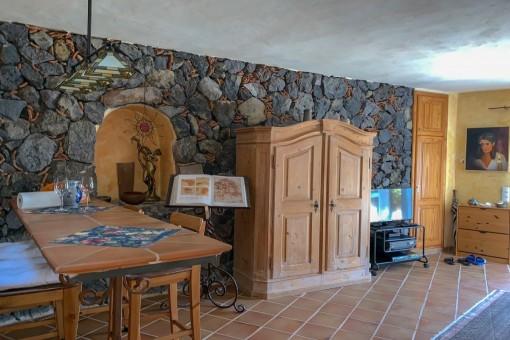 Rustikaler Wohnbereich