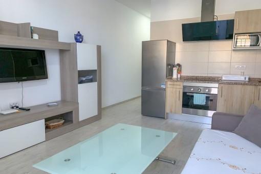 Offene Wohnstube und Küche