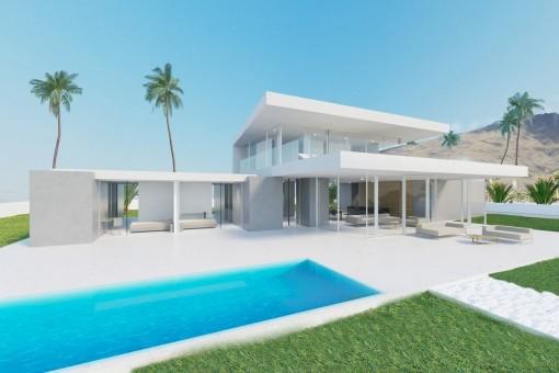 Moderne Luxusvilla im minimalistischen Stil in La Caleta
