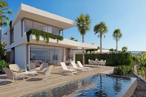 Villas del Tenis - 2 Schlafzimmer-Luxusvillen direkt am Golfplatz auf Teneriffa