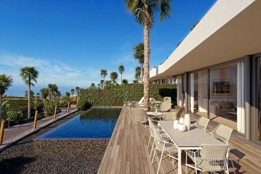 Villas del Tenis - Große Luxusvillen direkt am Golfplatz auf Teneriffa