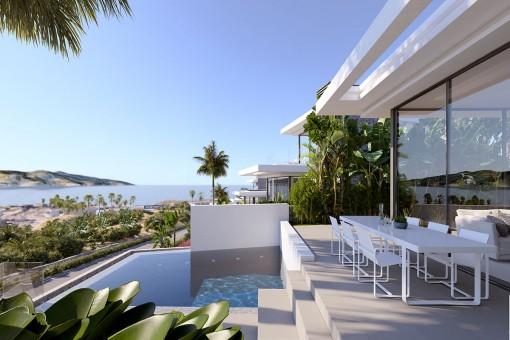 Moderne Villa mit Pool und Aussicht im Abama Golf Resort Teneriffa
