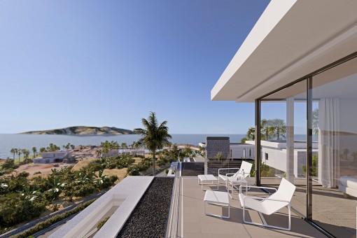 Sonnige Terrasse