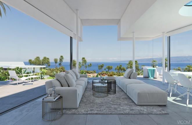 Freistehende Neubauvilla im Abama Resort auf Teneriffa