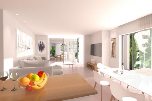 Maisonette Penthouse mit 2 Schlafzimmern in
