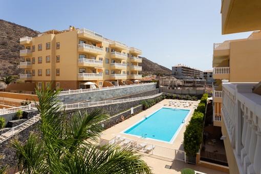 Apartment mit großem Garten in El Palm Mar