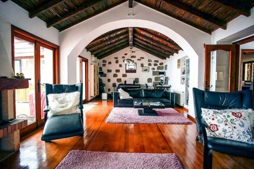 Wunderbare Finca mit 2 Häusern, unglaublichem Meer- und Bergblick und Tennisplatz in Arona, Teneriffa Süd