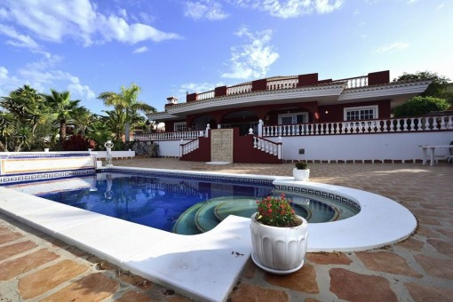 Luxuriöse und prächtige Villa mit herrlichem Blick auf das Meer, La Gomera und den Teide