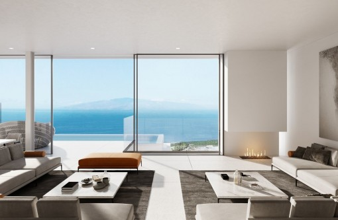 Modernes Designer Villa Projekt mit Panoramablick über den Abama Golf Platz