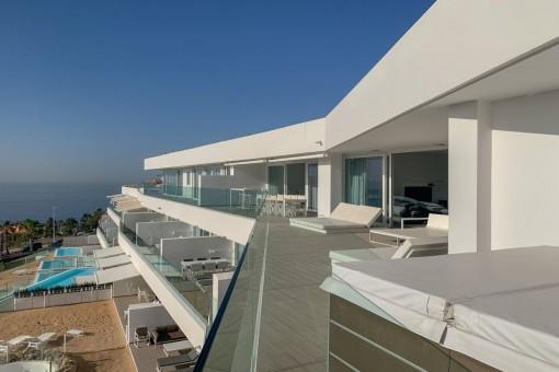 Luxus-Penthouse mit herrlichem Meerblick in Costa Adeje
