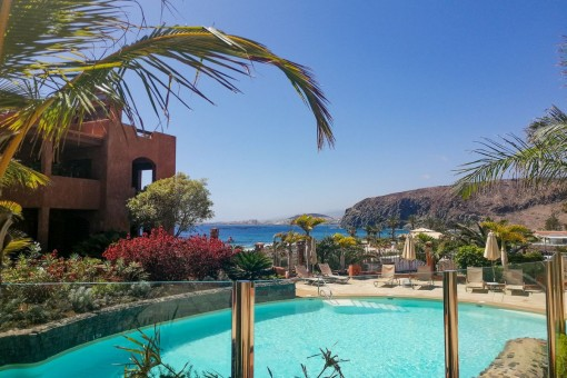 Wunderschönes Apartment mit Garten und Meerblick in Palm Mar
