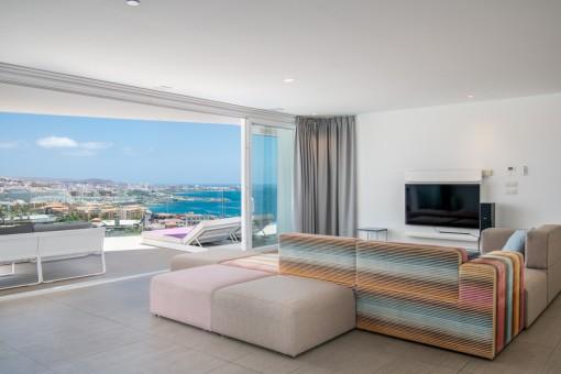 Luxus-Penthouse mit atemberaubendem Meerblick in Costa Adeje