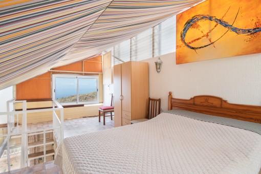 Ansicht des Schlafzimmers vom Gästestudio