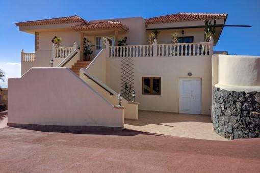 Die Villa liegt in einer ruhigen Gegend