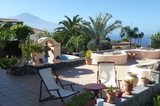 Hochwertige Villa mit intelligentem Design, Teide- und Meerblick