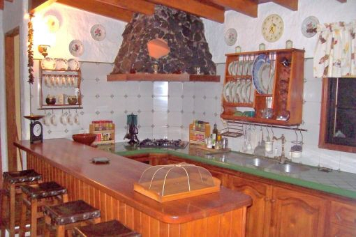 Voll ausgestattete Einbauküche