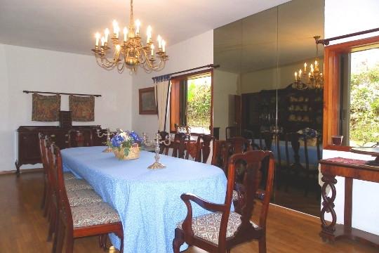 Essbereich mit großem Tisch