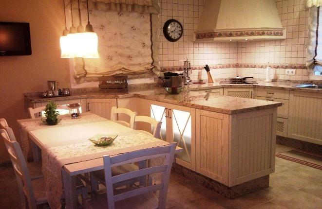 Moderne Küche mit spezieller Bauart.