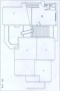 Grundriss der oberen Etage