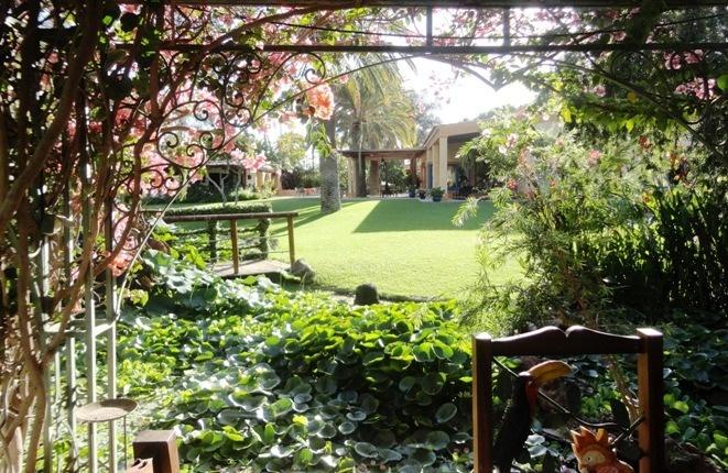 Eine lauschige Laube im Garten