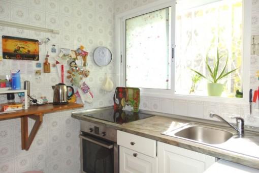 Die Küche am Eingangsbereich des Hauses