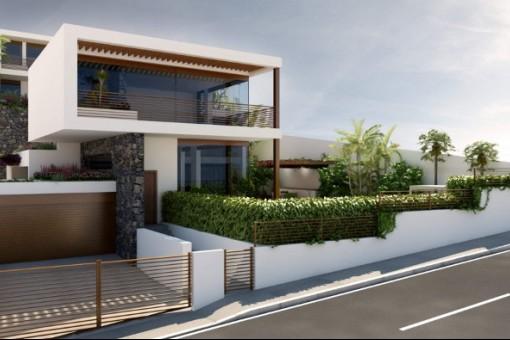 Blick auf der Villa