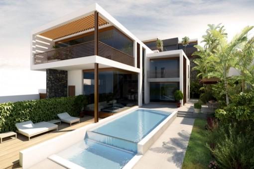 Einzigartiges Luxusvillaprojekt mit Pool und großer Terrasse