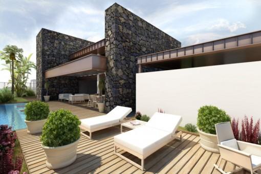 Moderne Villa mit Panoramablick auf den Atlantik
