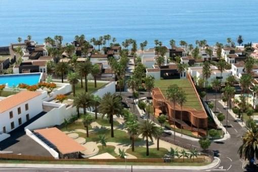 Ausblick auf die Villas