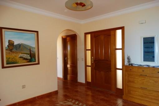 Der Eingangsbereich des Hauses